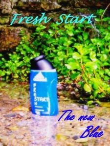 034 Blue Werbeplakat